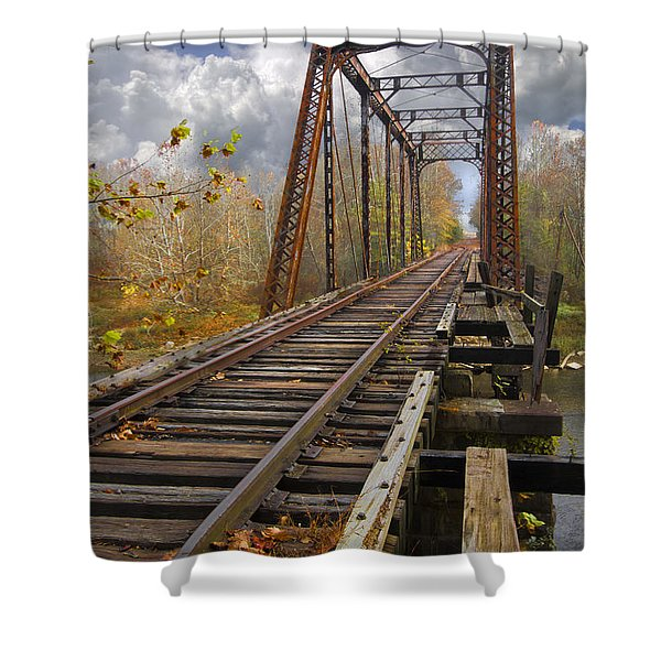 Waiting for the Train Shower Curtain by Debra and Dave Vanderlaan