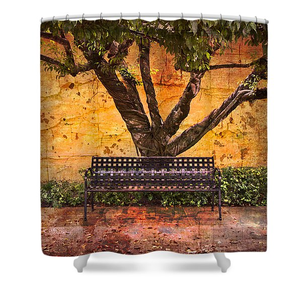 Waiting for You Shower Curtain by Debra and Dave Vanderlaan