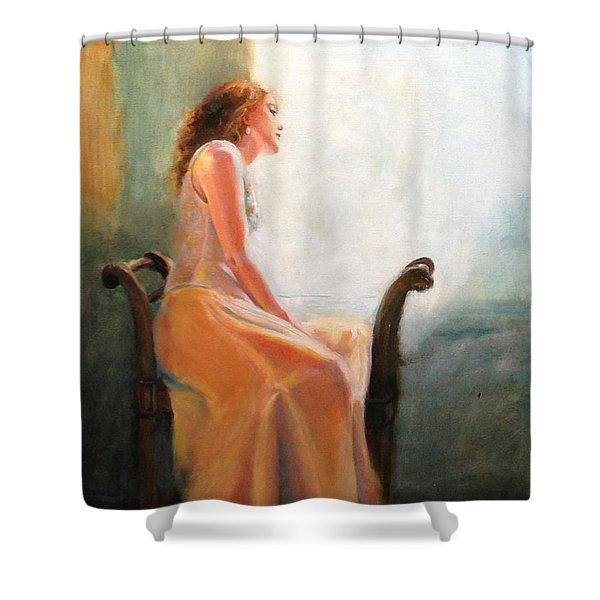 Waiting Shower Curtain by Sarah Parks