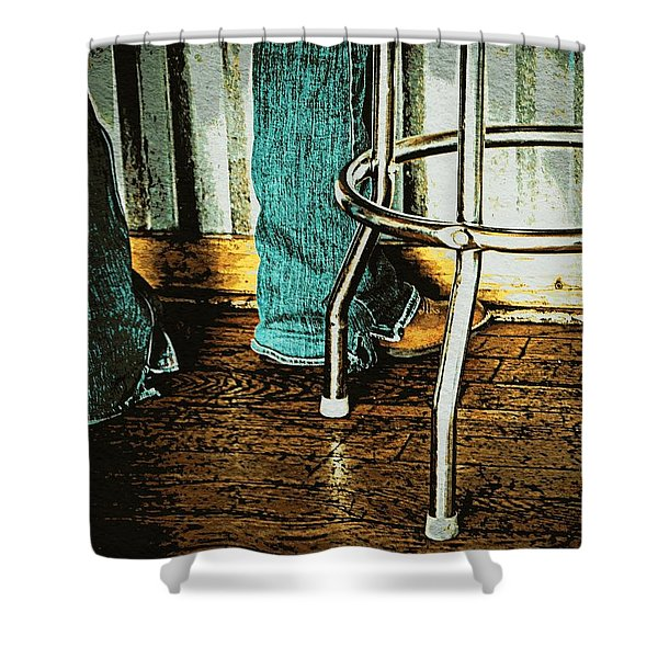 Waiting Waitress  Shower Curtain by Chris Berry