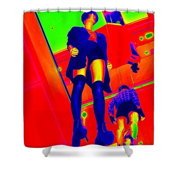 Walking On Air Shower Curtain by Ed Weidman