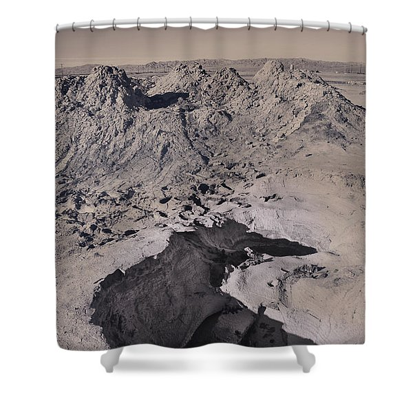Walking On The Moon Shower Curtain by Laurie Search