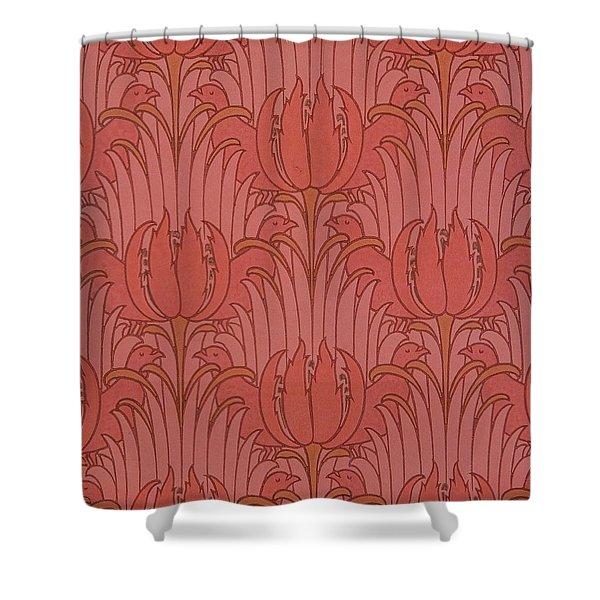 Wallpaper Design Shower Curtain by Victorian Voysey