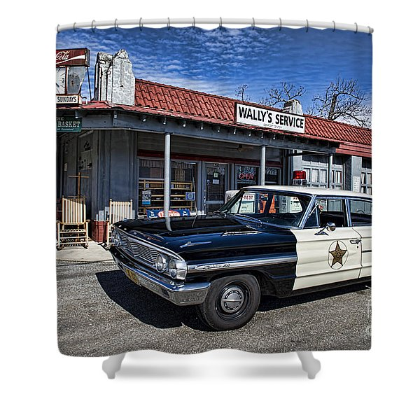 Wallys Service Station Shower Curtain by David Arment