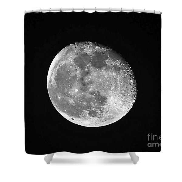 Waning Pink Moon Shower Curtain by Al Powell Photography USA