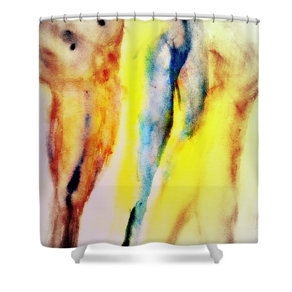 Wanna Go Diving Shower Curtain by Hilde Widerberg