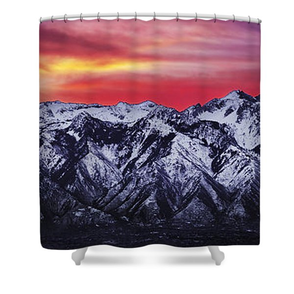Wasatch Sunrise 3x1 Shower Curtain by Chad Dutson