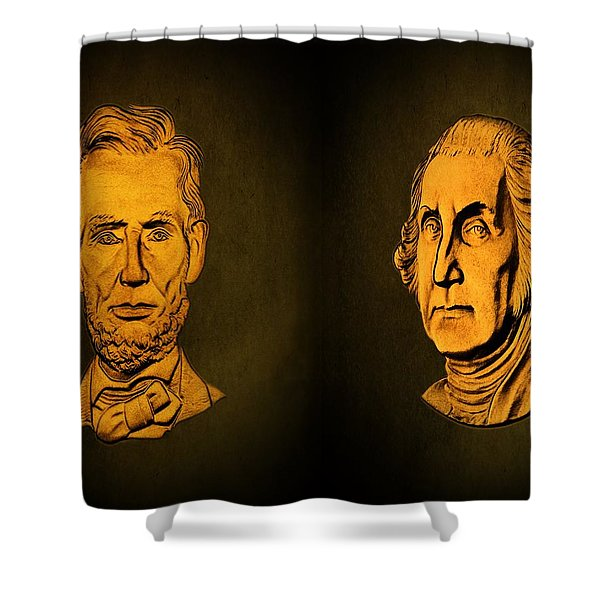 Washington And Lincoln Shower Curtain by David Dehner