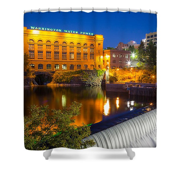 Washington Water Power Shower Curtain by Inge Johnsson
