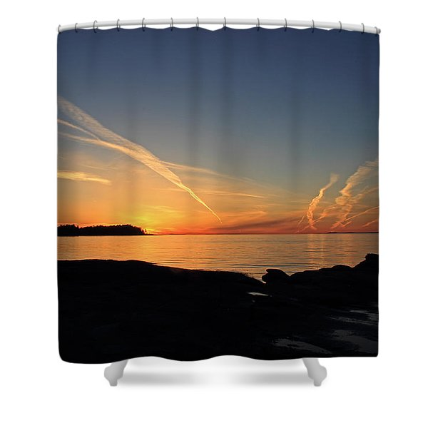 Watching The Sun Go Down Shower Curtain by Randy Hall