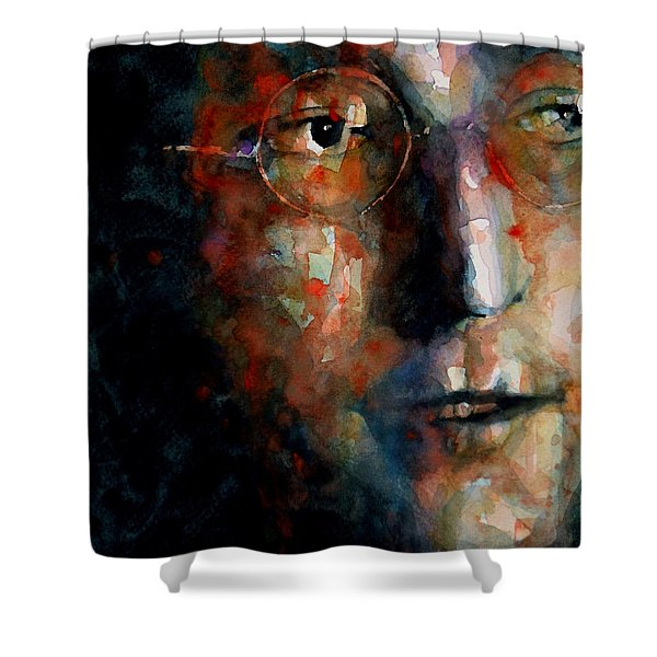 Watching the Wheels Shower Curtain by Paul Lovering