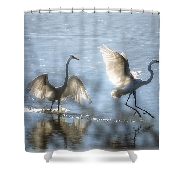 Water Ballet  Shower Curtain by Saija  Lehtonen