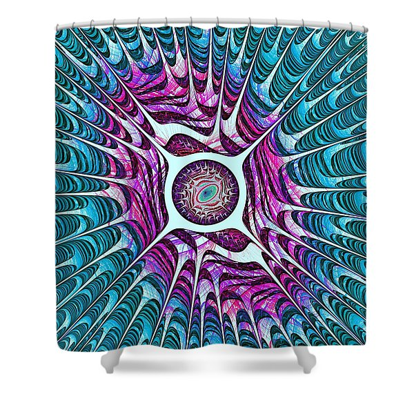 Water Dragon Eye Shower Curtain by Anastasiya Malakhova