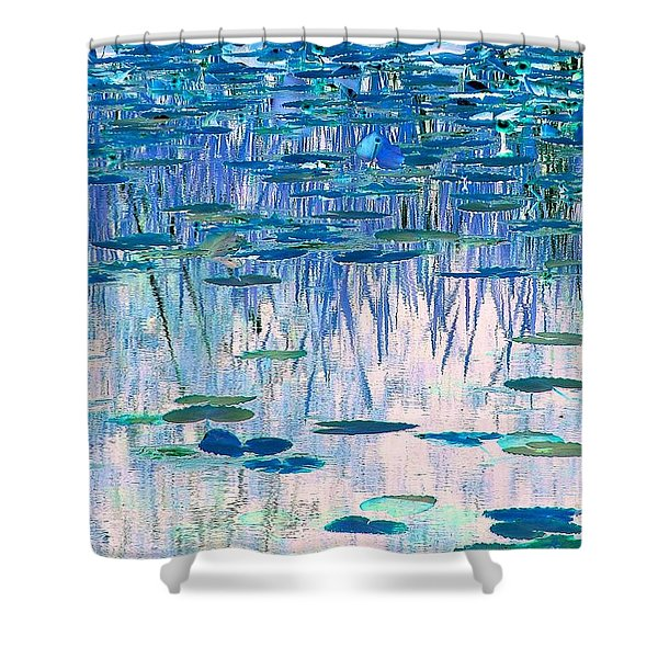 Water Lilies Shower Curtain by Chris Anderson