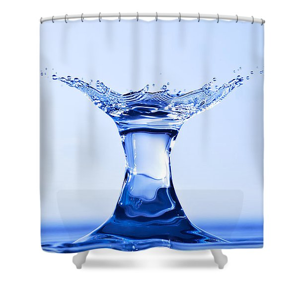 Water Splash Shower Curtain by Anthony Sacco