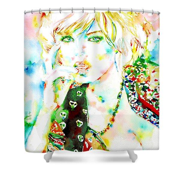 WATERCOLOR WOMAN.3 Shower Curtain by Fabrizio Cassetta