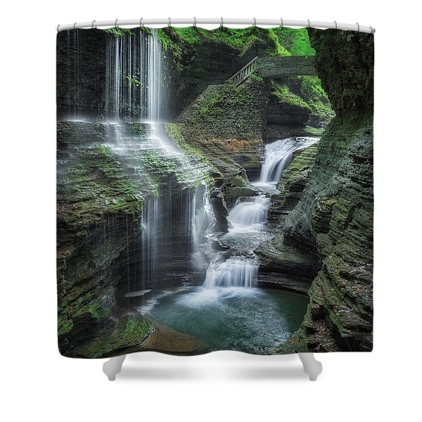 Watkins Glen Shower Curtain by Bill  Wakeley