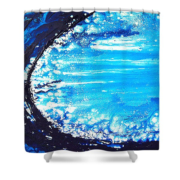 Wave Shower Curtain by Sharon Cummings