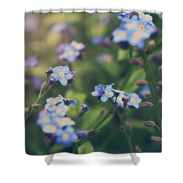 We Lay With the Flowers Shower Curtain by Laurie Search