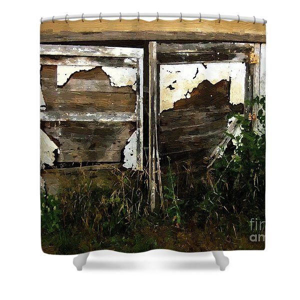 Weathered In Weeds Shower Curtain by RC DeWinter