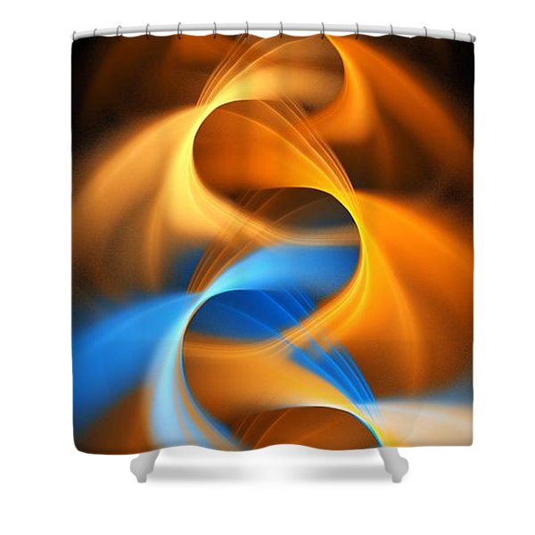 Weaving Color Shower Curtain by Elizabeth McTaggart