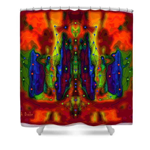 Web of Deceit Shower Curtain by Alec Drake