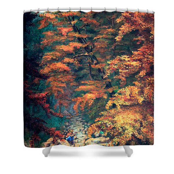Webster's Falls Shower Curtain by Otto Werner