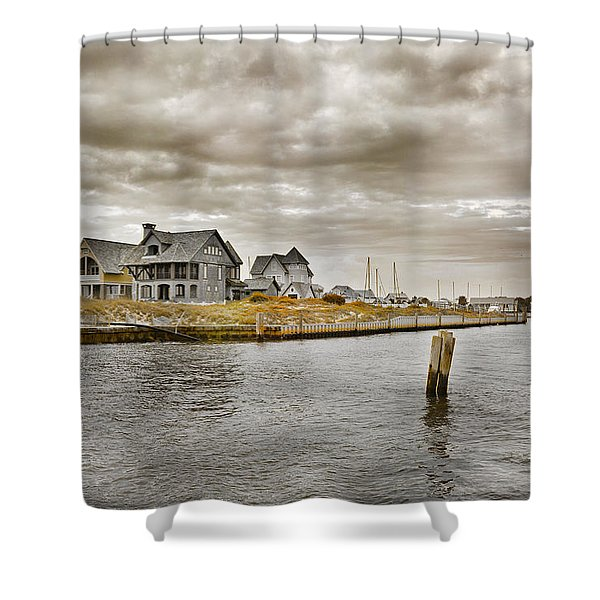 Welcome To Bald Head Island Shower Curtain by Betsy C  Knapp