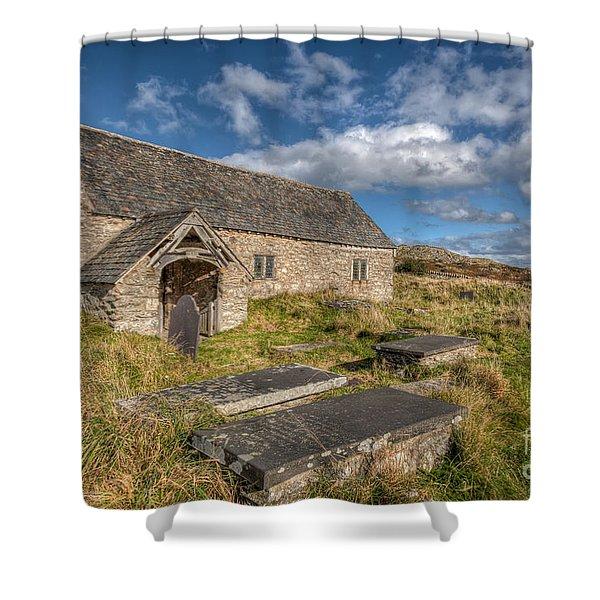 Welsh Church Shower Curtain by Adrian Evans