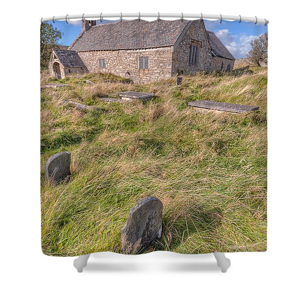 Welsh Tombs Shower Curtain by Adrian Evans