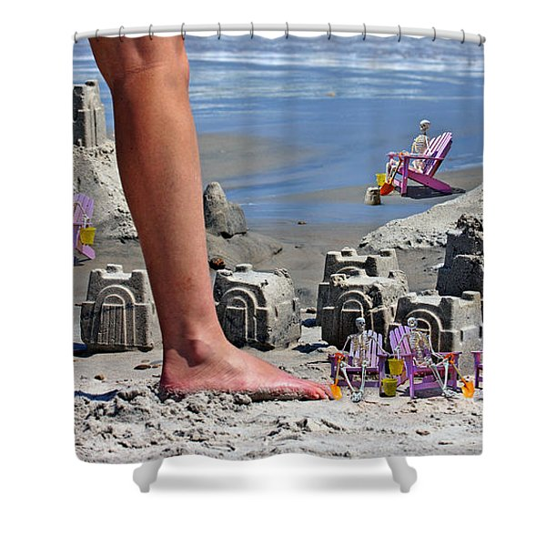 We're Moving In Shower Curtain by Betsy C  Knapp