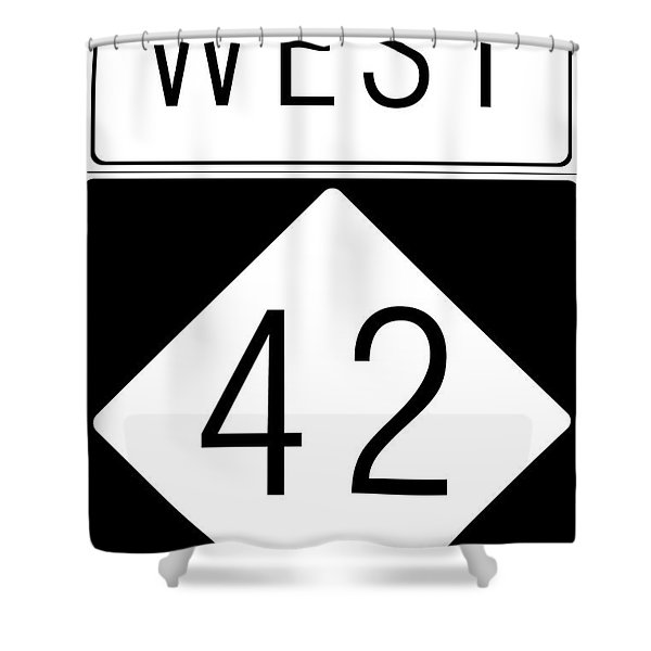 West NC 42 Shower Curtain by Paulette B Wright