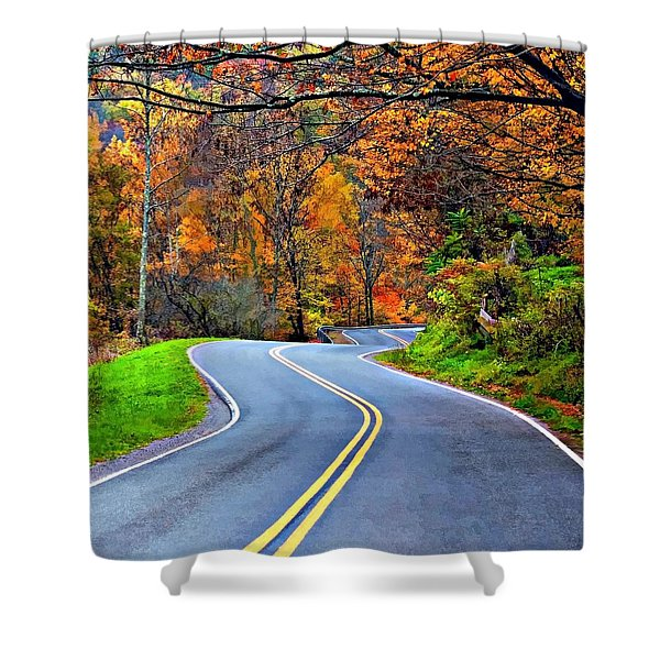 West Virginia Curves 2 Shower Curtain by Steve Harrington