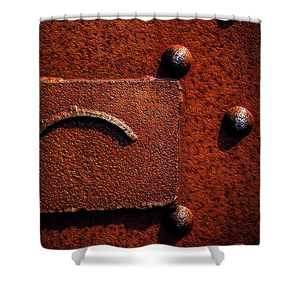 Wet Rust Shower Curtain by Bob Orsillo