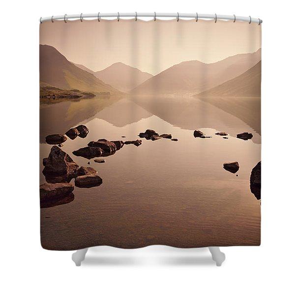 Wetlands Mornings Shower Curtain by Evelina Kremsdorf