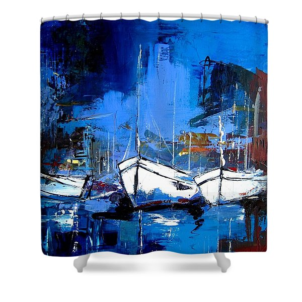 When Evening Comes Shower Curtain by Elise Palmigiani