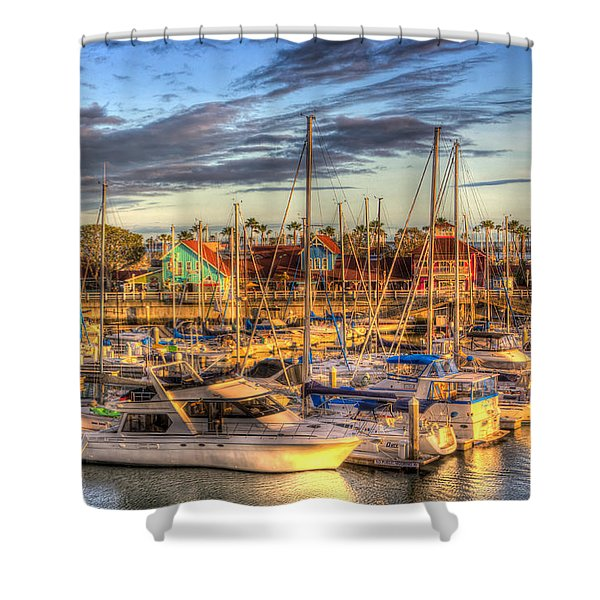 When The Sun Goes Down Shower Curtain by Heidi Smith