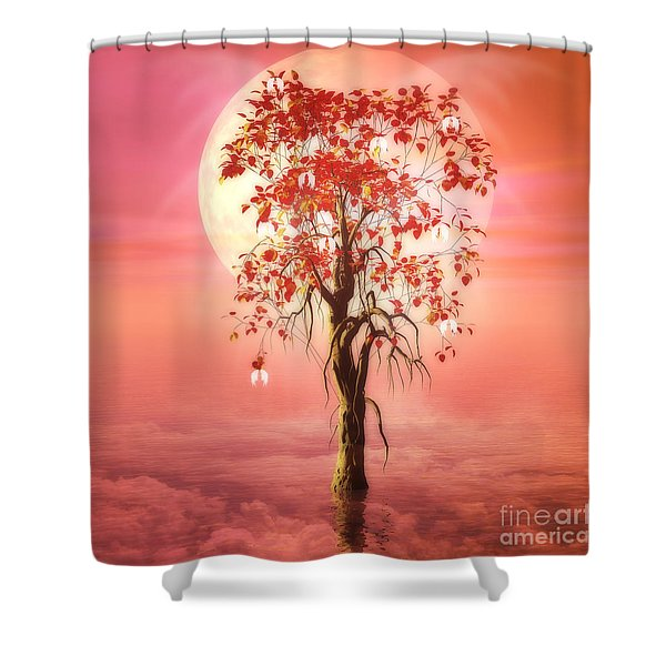 Where Angels Bloom Shower Curtain by John Edwards