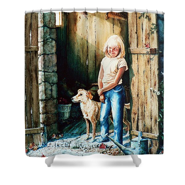 Where The Boys Are Shower Curtain by Hanne Lore Koehler
