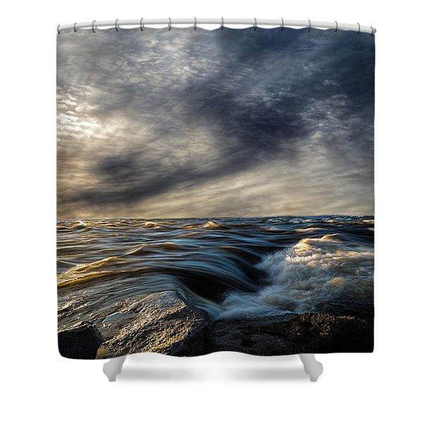 Where The River Kisses The Sea Shower Curtain by Bob Orsillo