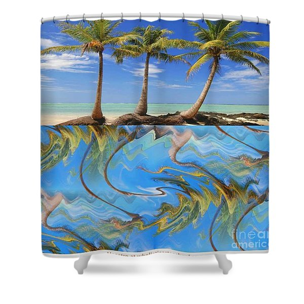 Whimsical Tropics Shower Curtain by PainterArtist FIN