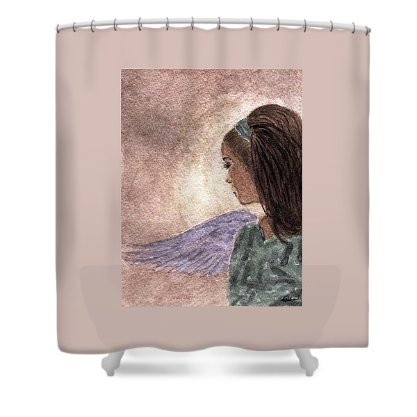 Whisper Of Wings Shower Curtain by Angela Davies