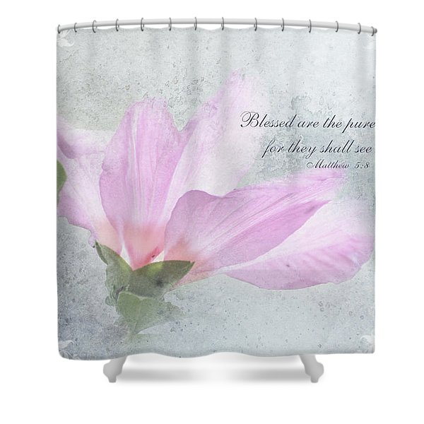 Whisper To Me With Verse Shower Curtain by Debbie Portwood
