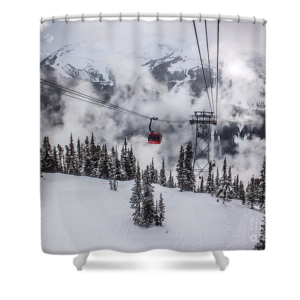 Whistler Blackcomb Weather Shower Curtain by Alanna DPhoto