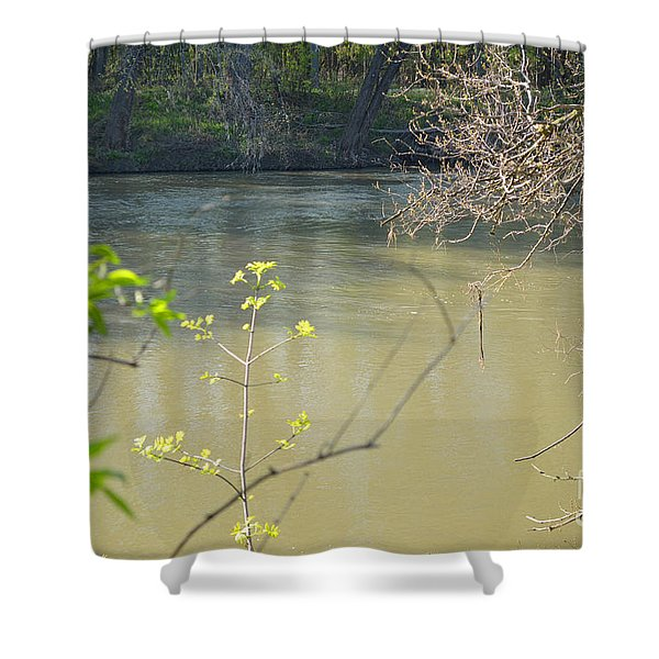White River Shower Curtain by Alys Caviness-Gober