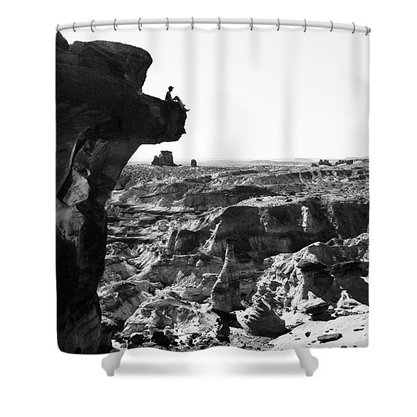 White Rocks Shower Curtain by Chad Dutson