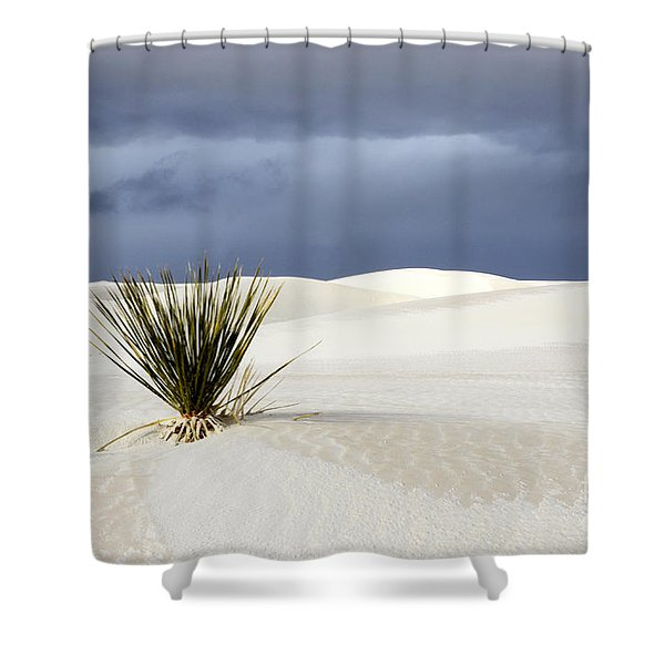 White Sands Dark Sky Shower Curtain by Bob Christopher