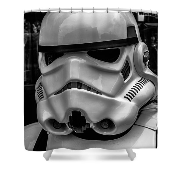 White Stormtrooper Shower Curtain by David Doyle