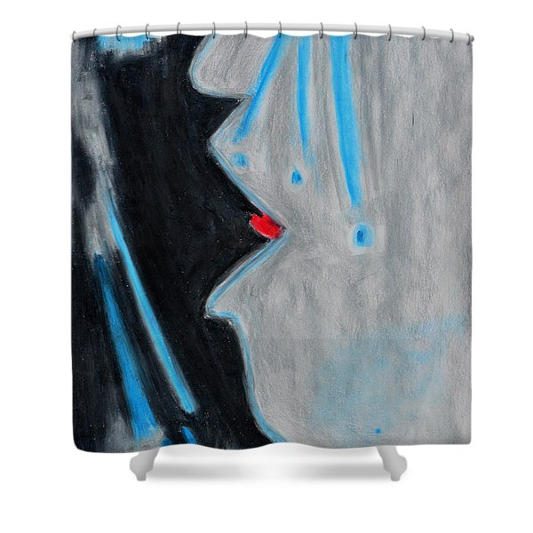 Who Helps Those Who Cry In Silence Shower Curtain by Donna Blackhall