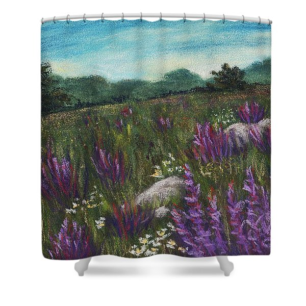 Wild Flower Field Shower Curtain by Anastasiya Malakhova